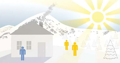 Принцип на Слънчево отопление