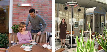 BURDA инфрачервени уреди за тераси и хотели